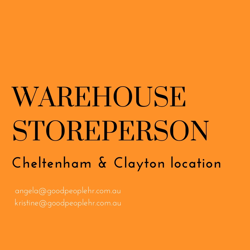 Warehouse Storeperson Cheltenham And Clayton Day And
